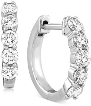 "Forever Grown Diamonds Lab Created Diamond Small Huggie Hoop Earrings (5/8 ct. t.w.) in Sterling Silver, .59"""