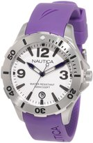 Nautica Women's Sport N11551M Purple Resin Quartz Watch with Dial