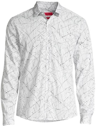 HUGO Extra Slim-Fit Geometric Print Shirt