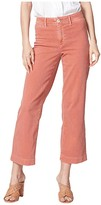 Paige Nellie w/ Trouser Detail Jeans in Vintage Orange Poppy (Vintage Orange Poppy) Women's Jeans