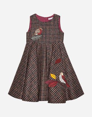 Dolce & Gabbana Houndstooth Midi Dress