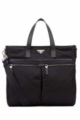 Prada Shopping Zip Tote Bag