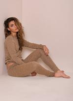 Missy Empire Casa Camel Fine Knit Loungewear Tracksuit