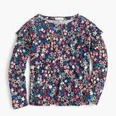 J.Crew Girls' star-printed long-sleeve T-shirt with ruffles