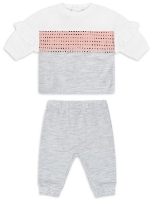 Petit Lem PL Baby by Baby Girl Sweater & Jogger Outfit, 2pc Set