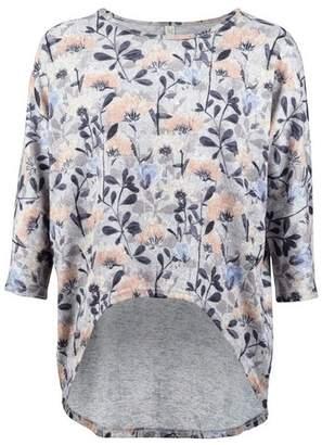 Dorothy Perkins Womens *Izabel London Grey Floral Dip Hem Top, Grey