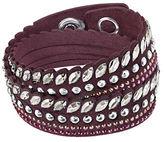 Swarovski Stainless Steel and Leather Bracelet