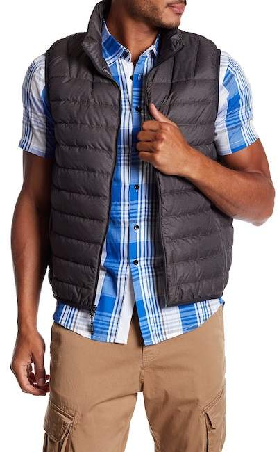 HAWKE AND CO Quilted Down Packable Vest