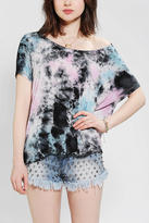Urban Outfitters Staring At Stars Cropped High/Low Tie-Dye Tee