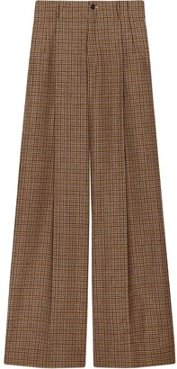Gucci Houndstooth Wide-Leg Trousers