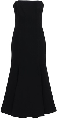 Valentino Double Wool Crepe Bustier Midi Dress