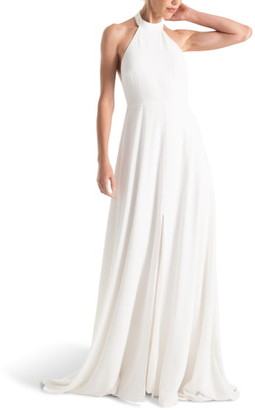 Joanna August Courtney Halter Wedding Dress