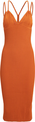 Dion Lee Layered Bra Ribbed Midi Dress