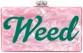 Edie Parker Jean Weed clutch - women - Acrylic - One Size