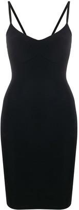 Murmur Base V-neck midi dress