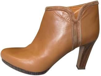 Veronique Branquinho Camel Leather Ankle boots