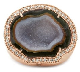 Jacquie Aiche Geode, Diamond & 14kt Gold Ring - Green