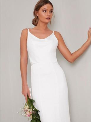 Chi Chi London Bridal Mariam Bodycon Maxi Dress - White