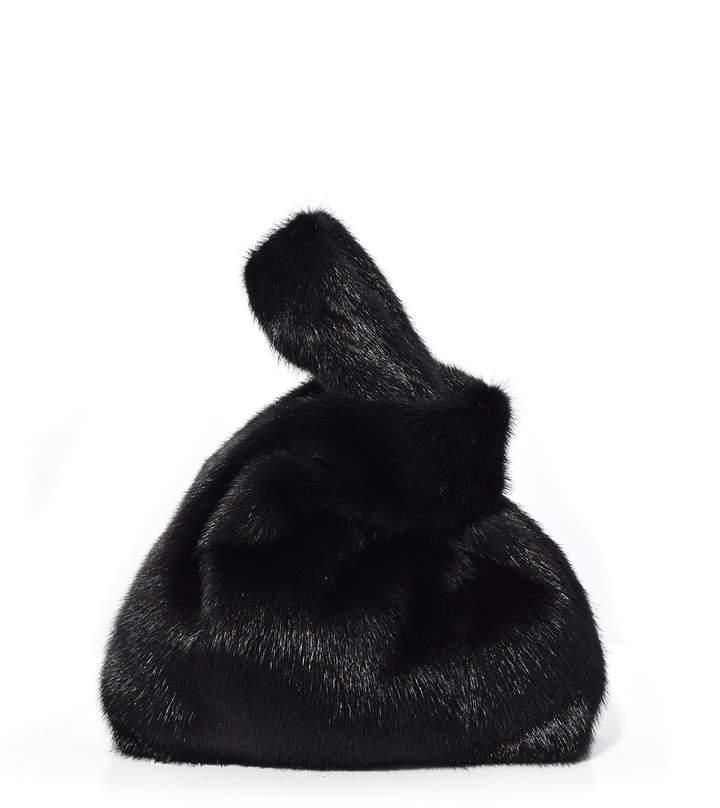 Simonetta Ravizza Furrissima Mink Bag in Black