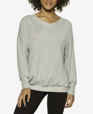 Felina Essentials Modal Boyfriend Lounge Sweatshirt