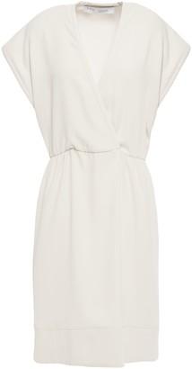 IRO Boxwood Wrap-effect Crepe Mini Dress