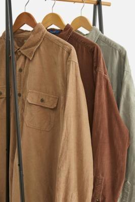 Urban Renewal Vintage Beige Corduroy Shirt - Beige S/M at Urban Outfitters