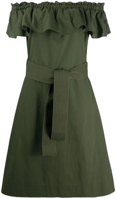 P.A.R.O.S.H. Off The Shoulder Mini Dress