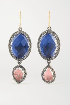 Larkspur & Hawk Sadie Rhodium-dipped Quartz Earrings - Silver