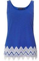 Dorothy Perkins Womens Cobalt Zig Zag Trim Hem Vest Top- Blue