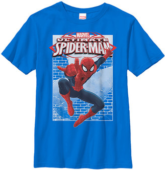 Fifth Sun Boys' Tee Shirts Royal - Royal Blue Spider-Man Wall Tee - Boys