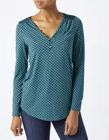 Monsoon Daphnee Geo Long Sleeve Top