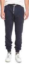 Brunello Cucinelli Drawstring Jersey Lounge Pants, Navy