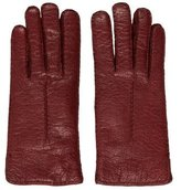 Loro Piana Textured Leather Gloves