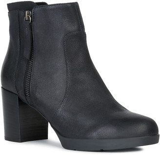 Geox Aneeka Leather Ankle Boot