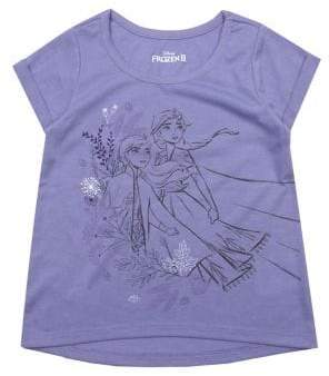 Nannette Little Girl's Frozen 2 Elsa & Anna Short-Sleeve Tee