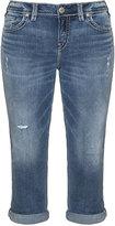 Silver Jeans Plus Size Aiko slim fit capri jeans