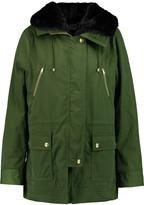 Joie Golden Gavi shell and faux fur coat