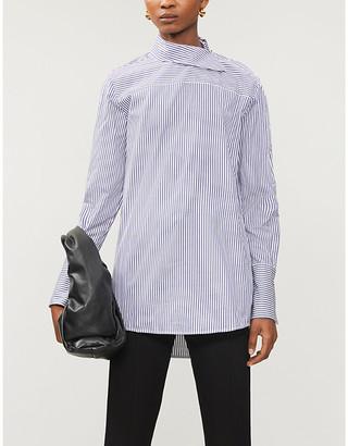 Victoria Victoria Beckham Striped cotton-poplin shirt