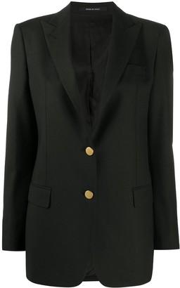 Tagliatore Contrast-Button Blazer