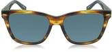Ermenegildo Zegna EZ0002 50V Havana & Blue Acetate Men's Sunglasses