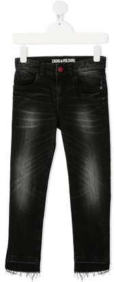 Zadig & Voltaire Kids Light Wash Straight-Leg Jeans