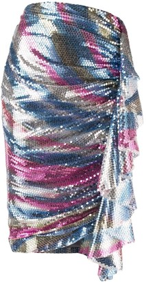 In The Mood For Love Carnival sequin embellished pencil skirt
