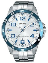 Lorus Men's 45mm Steel Bracelet & Case Quartz -Tone Dial Watch Rh903gx9