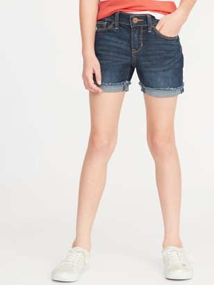 Old Navy Rolled Fray-Hem Jean Shorts for Girls