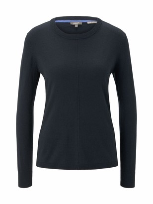 TOM TAILOR mine to five Women's High-Low Round Neck Sweater