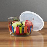 Crate & Barrel Lidded Bowl with Stripes