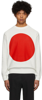 Blue Blue Japan White Big Circle Sweater