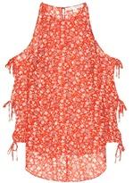 Veronica Beard Flynn Bow printed silk blouse