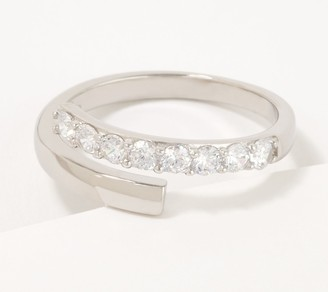 Diamonique Pave Wrap-Around Ring, Sterling Silver