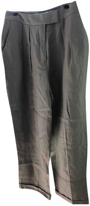 Whistles Grey Linen Trousers for Women